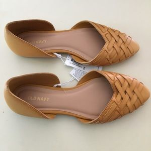 NEW Old Navy Weave Pointed Toe Flats 6.5 D'Orsay